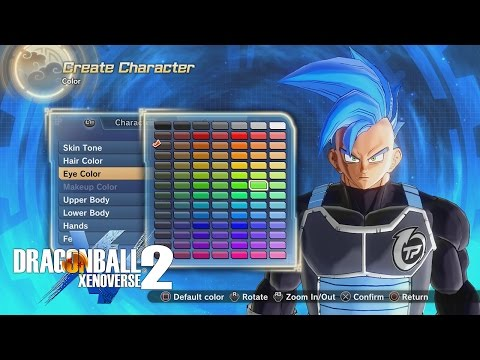 Dragon Ball Xenoverse 2 All Saiyan Character Creation Options!