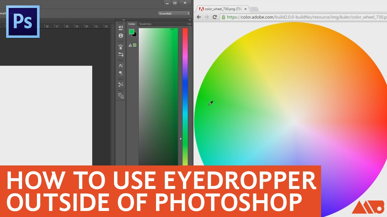 How To Use The Eyedropper Tool Outside Of Photoshop Tutorial