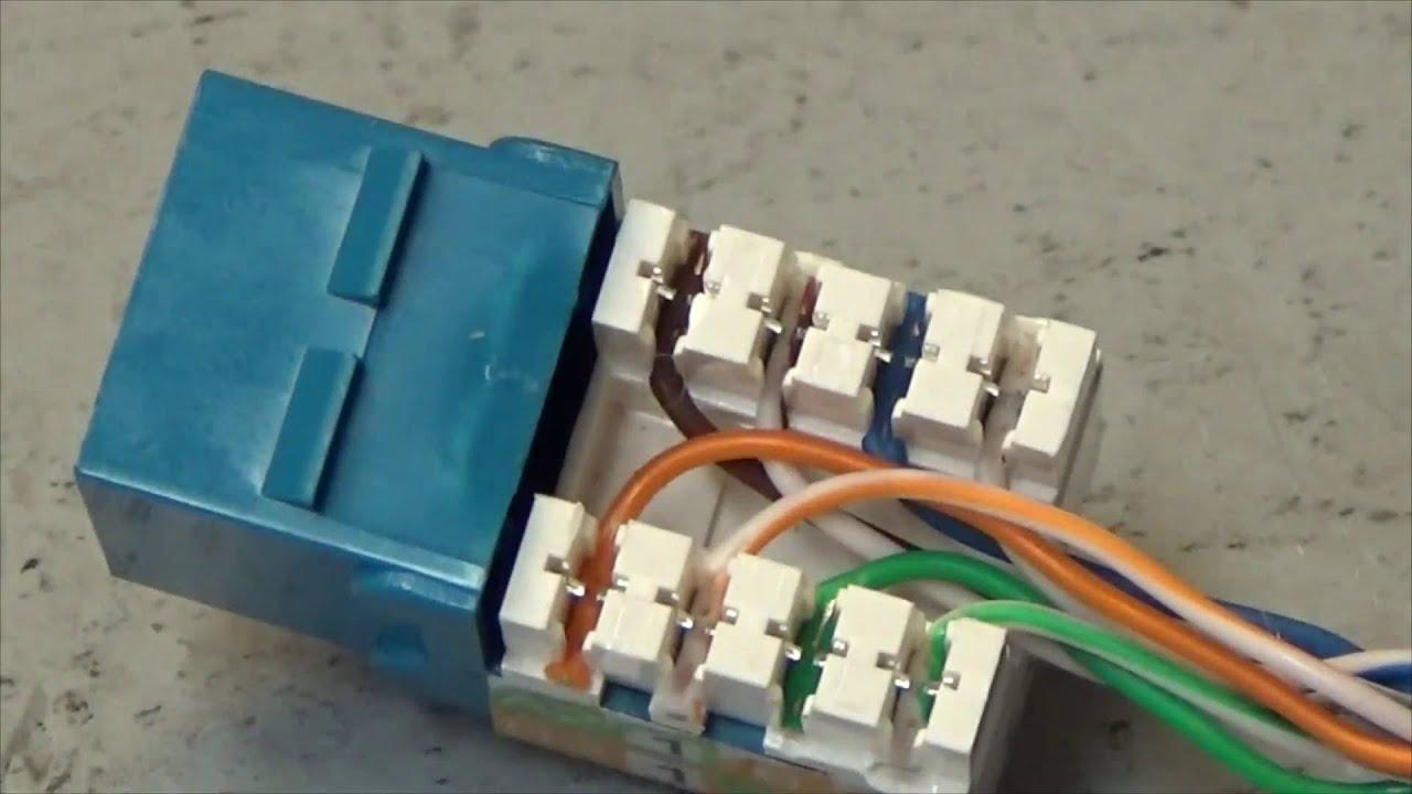 medium resolution of diy cat5 cat6 ethernet coupler youtube wiring a cat5 modular jack