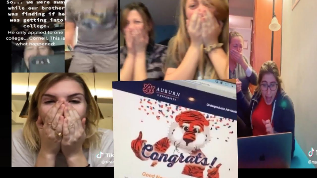 Your college acceptance reaction video could go viral!
