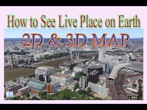 How To See Watch Live Satellite Street View Google Earth - Satellite street view