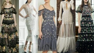 Gorgeous And Stunning Needle & Thread Embroidery Maxi Dress/Patterns Design