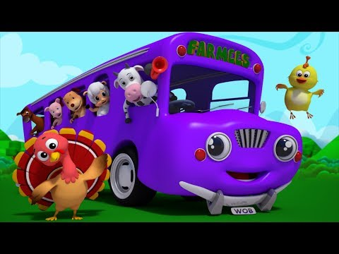 Wheels On The Bus Go Round And Round | Baby Songs | Nursery Rhymes by Farmees