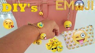 DIY's Acessórios Divertidos Emojis, Pulseira, cordão e chaveiro