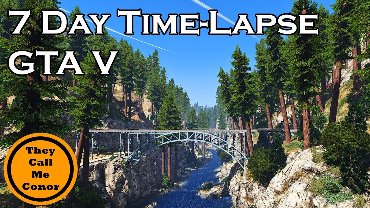 7 Day Time-Lapse GTA 5 PC redux, 4k water, LA roads & NaturalVision 2 0 mods