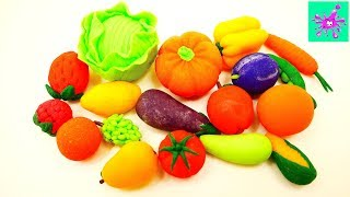 Learn Names and Colors Fruits and Vegetables | Learn Colors | Learn Fruits and Vegetables | Play Doh