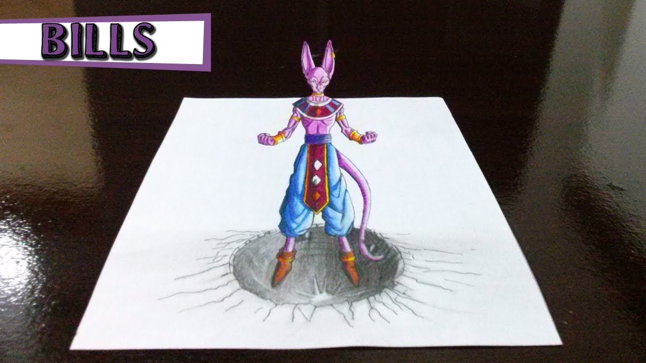 Desenhando Bills De Dragon Ball Z Em 3D