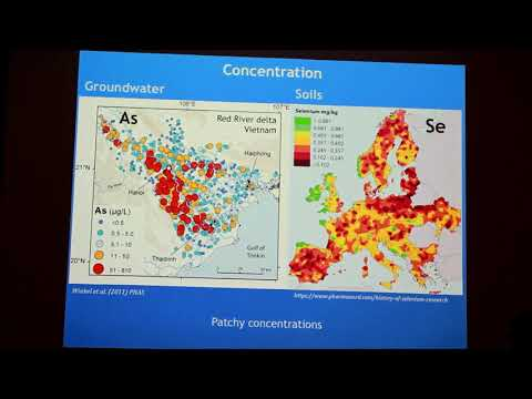Lecture: Predicting broad scale environmental distributions of trace elements