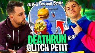 Deathrun glitch devenir tout petit avec Michou et Dobby sur Fortnite Créatif !