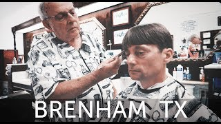 Haircut in Original 1960's Brenham Texas Barbershop - Otto's Barber Shop