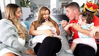 FIRST TIME MEETING THE NEWBORN BABY OF THE FAMILY!!! (UNEXPECTED GIFT REVEAL)