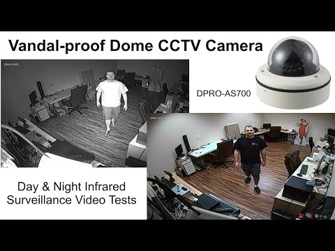 Vandal-proof Dome CCTV Camera Day & Night Surveillance Video