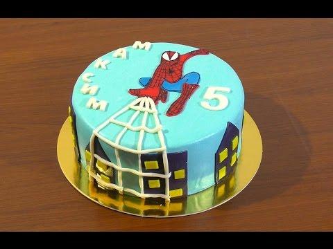 Торт Человек паук из мастики Детские торты  Spider-Man Cake mastic