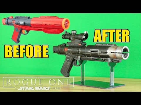 Star Wars: Rogue One- Nerf Death Trooper Blaster Makeover- Chris Custom Collectables!