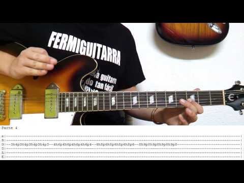 Como Tocar el solo de The Hell Song de Sum 41 en guitarra - Tutorial HD