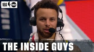 Stephen Curry joins the Inside Guys After the Warriors Defeated Dallas | NBA on TNT