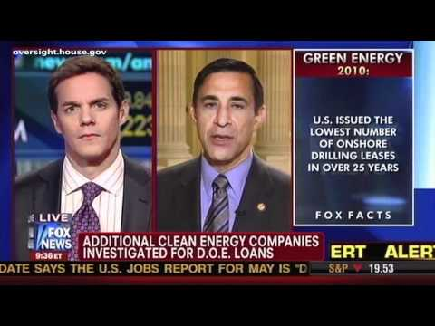 Issa on Fox News: Crony Capitalism at Work for Green Energy Companies & Obama Administration