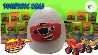 Blaze and the Monster Machines Giant Play Doh Egg Surprise