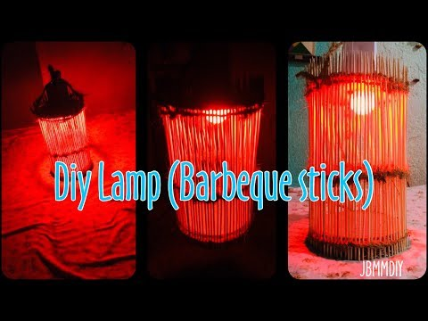 DIY Lamp Made of Barbeque Stick