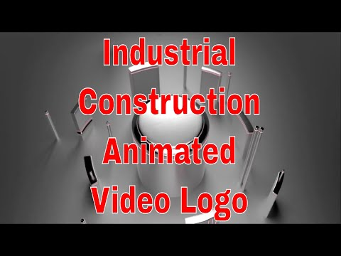 Industrial Construction Animated Video Logo for Video Marketing