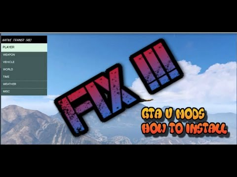 GTA V PC MODS NOT WORKING FIX !!!