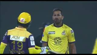 Wahab Riaz Fights With Ahmed Shehzad in PSL 2016