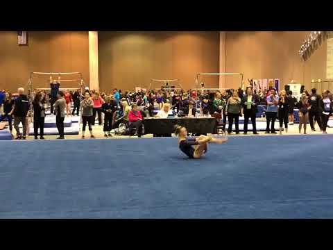 2018 - Level 8 - Region 1 Championships Apr15, 2018- Sierra K. (Gold Medal Gymnastics) - Floor