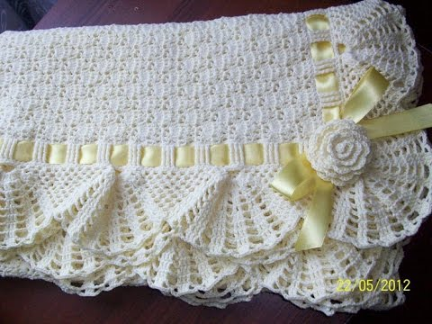 Crochet Patterns For Free Crochet Baby Blanket 60 YouTube Enchanting Lacy Baby Blanket Crochet Pattern