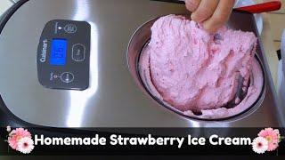 How to Make Homemade Strawberry Ice Cream | Cuisinart ICE-100 Compressor Ice Cream Maker