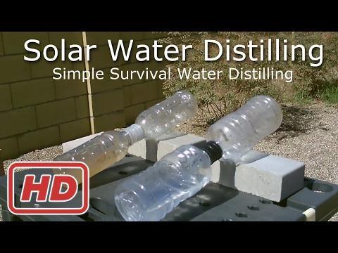 Distillatore Acqua Solare Fai Da Te Distillazione Di Acqua Solare