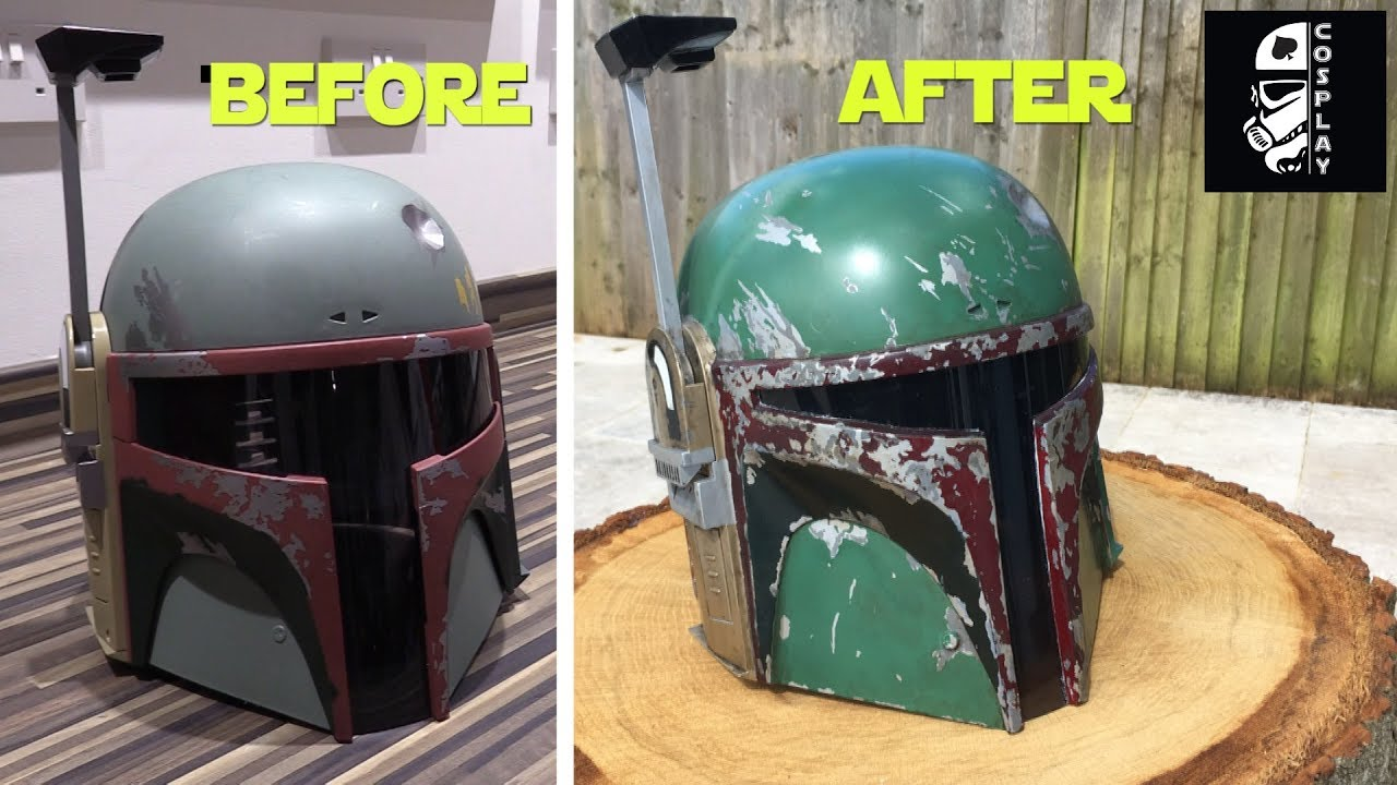 Hasbro Boba Fett Helmet Conversion & Hasbro Boba Fett Helmet Conversion - YouTube
