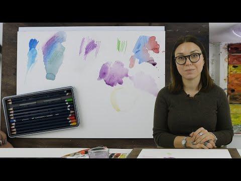 Экспресс-урок: акварельные карандаши