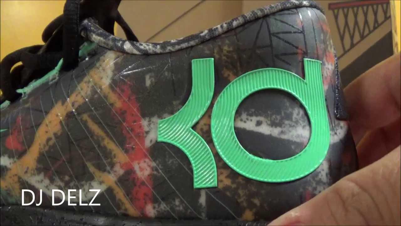 8767e675005 Nike KD 6 VI Illusion NOLA Gumbo League Sneaker Review + On Feet + Glow In  Dark Test W   DjDelz