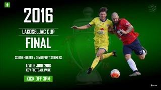 2016 Lakoseljac Cup Final: South Hobart v Devonport Strikers thumbnail