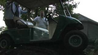 epic fail man vs golf cart