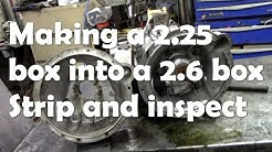 Making a 2.25 S2a gearbox into a 2.6 gearbox - strip and inspect