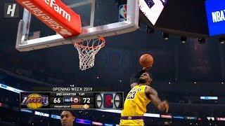 LeBron James Dunks & Staredowns! Lakers vs Clippers | October 22, 2019 | 2019-20 NBA Season