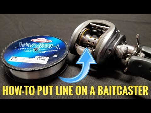 How To Put Line on a BAITCASTER!