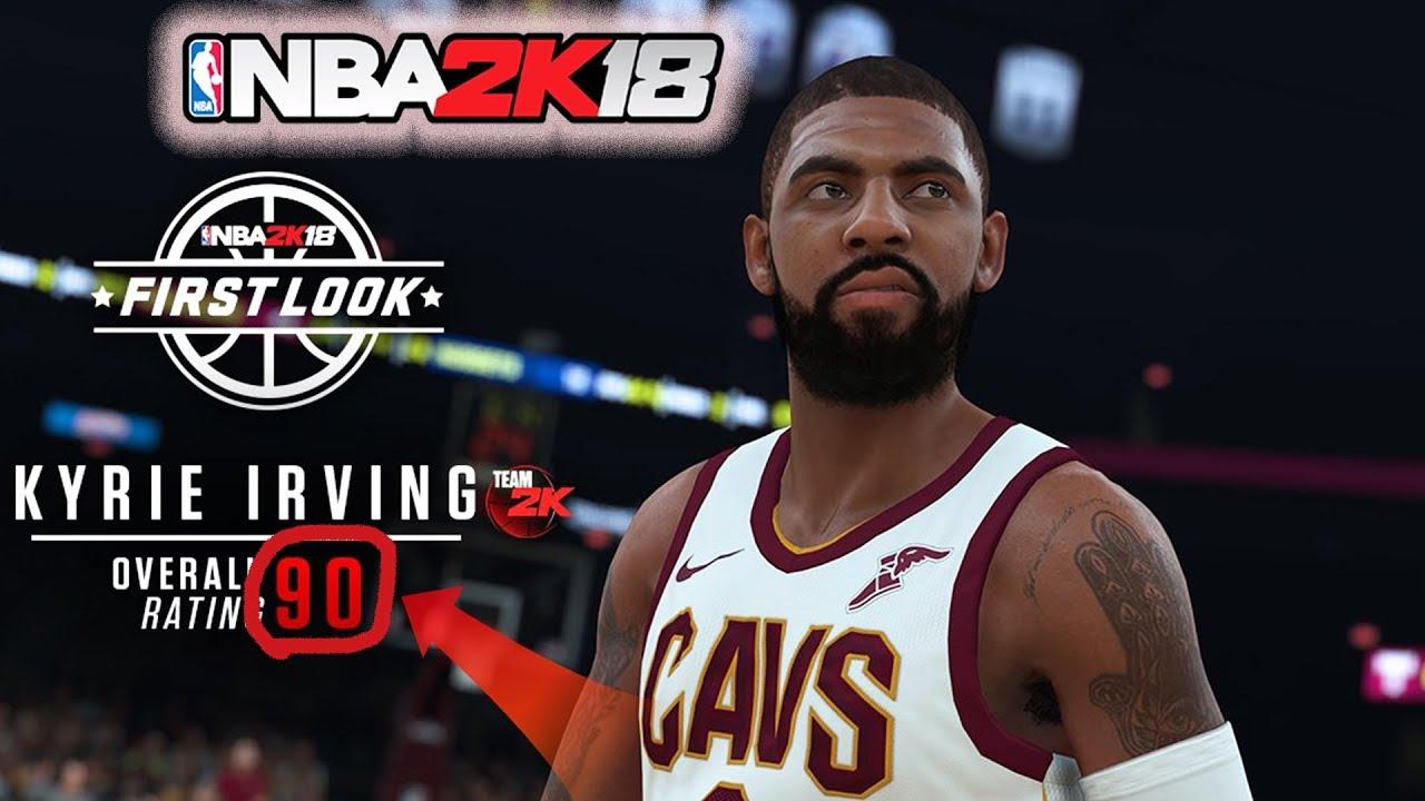 new style 30299 3dcc4 NBA 2k18 Kyrie Irving Screenshot + Rating! New Cavs Jerseys! Best We Got So  FAR!