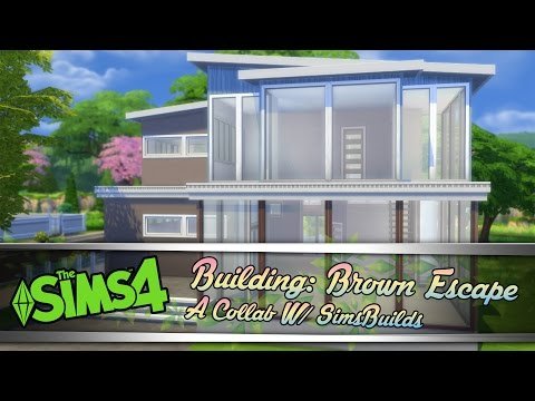 The Sims 4 Speed Build: Brown Escape | Collab w/ SimBuilds |