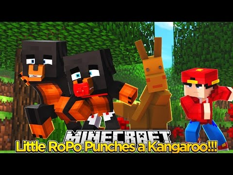 Minecraft Adventure - LITTLE ROPO PUNCHES KANGAROO IN THE FACE!!