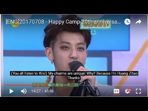 [ENG]20170708 - Happy Camp 20th anniversary - ZTAO Cuts