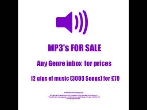 MP3's for sale Any Genre Inbox for prices