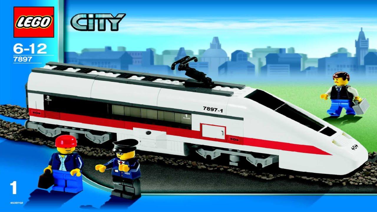 Lego Passenger Train 7897 Instruction Booklet Youtube