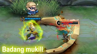 BADANG KILL or WIN ? | Mobile Legends Funny Gameplay Auto aim Marksman