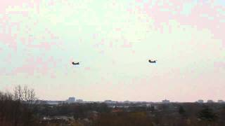 President Obama's helicopters at JFK New York by jonfromqueens