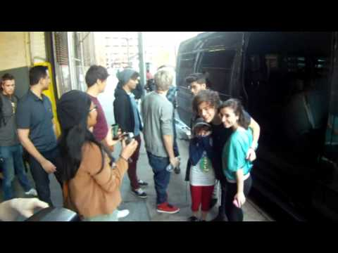 ONE DIRECTION GROUP ARRIVING TO ELVIS DURAN RADIO SHOW IN NY