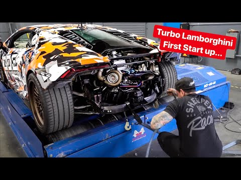 first-start-up-&-sound---rebuilding-my-lamborghini-with-twin-turbos!