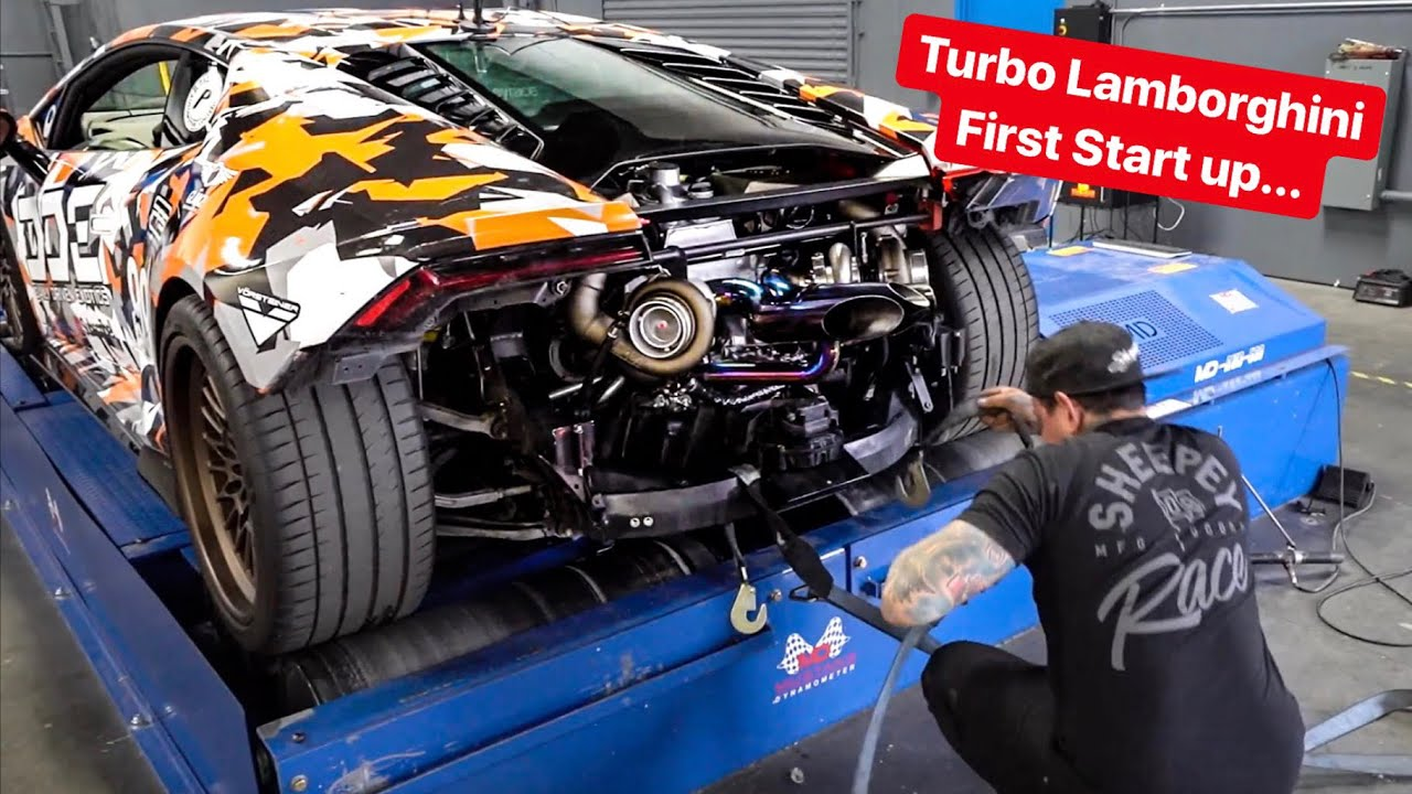 FIRST START UP & SOUND - REBUILDING MY LAMBORGHINI WITH TWIN TURBOS!