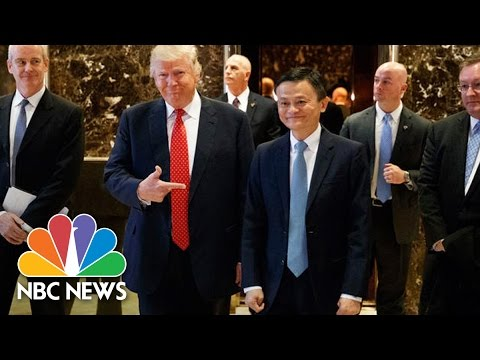 Donald Trump Touts Small Business Action With Alibaba's Jack Ma | NBC News